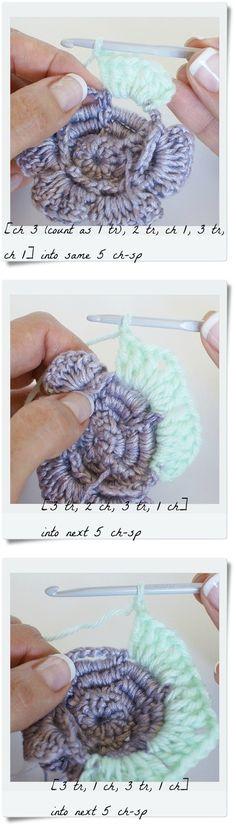 Crochet Rose Granny - Tutorial
