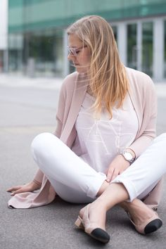 Mango Weste, Review Shirt, 7 all mankind Jeans und diy Singbacks in der Trendfarbe Rosenquarz - yellowgirl der DIY und lifestyle Blog
