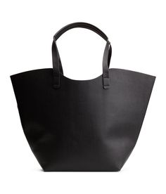Shopper in grained imitation leather with two handles at top. | H&M Accessories
