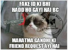 #lol  @indianjokes Indian Jokes, Dil Se, Grumpy Cat, Funny Jokes, Lol, Cats, Quotes, Humor, Quotations