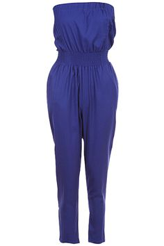 Blue Pleated Tube Top Jumpsuit #Romwe Tube Top Outfits, Jeans Pants, Shorts, Romwe, Jumpsuit, Giveaways, Blue, Clothes, Shopping