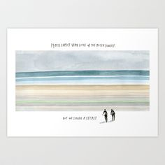 Outer Sunset Horizon from Meanwhile in San Francisco Art Print by wendy macnaughton - $24.00