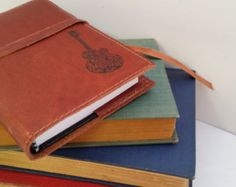 Leather Journal Leather Sketchbook Cover Personalize by inblue