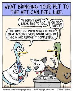 ''Visiting the Vet'' source: http://www.fowllanguagecomics.com/comic/a-visit-to-the-vet/