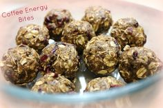 Coffee Energy Bites #cassiemadeit --- Next time try finer coffee grounds or instant coffee. Or maybe leave it out. Still heavenly, even when I replaced the chocolate chips with raisins.