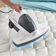 Antibacterial UV-C Bed Vac. Kills bedbugs and dust mites! Wish I had one of these worm I went to Toronto.