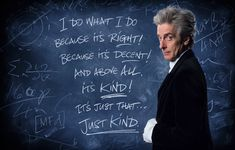 'Just Kind' .. back cover of Complete Capaldi Years.