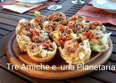 Bruschette di pane di patate con tonno e pomodorini Panini, Bruschetta