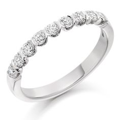 18ct White Gold Diamond Eternity Ring DB6678 from Beaverbrooks the Jewellers