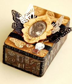Scrapperlicious: Vintage Altered Box by Irene Tan using BoBunny Penny Emporium collection