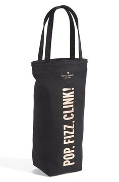 Fun Kate Spade wine tote! (Or champagne, if it's fizzing.)