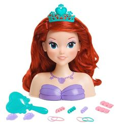 Disney Princess Ariel Little Mermaid Bath Time Hair Styling Head Doll Baby Girl Toys, Toys For Girls, Baby Dolls, Disney Princess Ariel, Barbie Toys, Disney Barbie Dolls, Ariel The Little Mermaid, Child Doll, Disney Toys