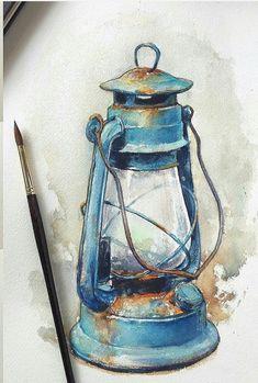 Watercolor Paintings For Beginners, Watercolor Drawing, Watercolor Illustration, Painting & Drawing, Art Drawings Sketches, Art Drawings For Kids, Indian Art Paintings, Art Sketchbook, Art Tutorials