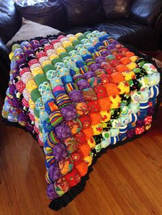 How To Make A Rainbow Bubble Quilt Easily | Puff quilt, Rainbow ... : bubble blanket quilt - Adamdwight.com
