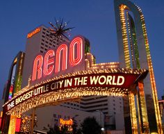 Reno, Nevada, the only thing our family cared for here was a WONDERFUL pizza we had delivered from a mom & pop place.