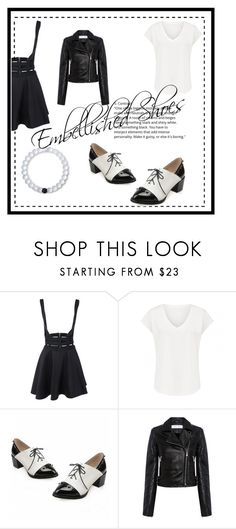 """""""Embelished shoes"""" by loves2read-1014 ❤ liked on Polyvore featuring IRO and Lokai"""