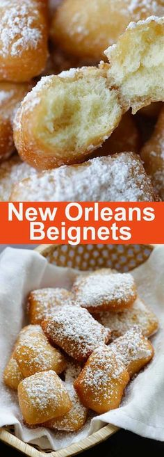 New Orleans Beignets - Soft, pillowy and the best New Orleans beignets recipe e. - New Orleans Beignets – Soft, pillowy and the best New Orleans beignets recipe ever. This recipe - Just Desserts, Delicious Desserts, Dessert Recipes, Yummy Food, Baking Desserts, Baking Snacks, Breakfast Recipes, Dessert Party, Oreo Dessert