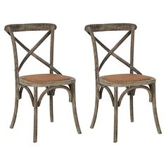 Gray Bonnie Side Chairs, Pair