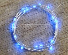 Blue LED Battery Operated Fairy Lights by ChurchHouseWoodworks