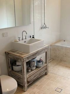 what a great bathroom design, tub and shower walled off together…  what a grea...