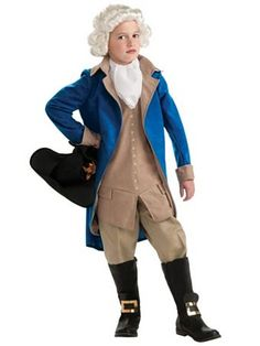 Deluxe George Washington Halloween costume for men. Do you want a costume kit to dress up as George Washington for Halloween?