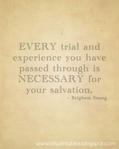 LDS Printables: Trials Make Us Stronger