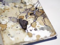 sketchbook love a bit of tea splattering. Don't know who this artist is?