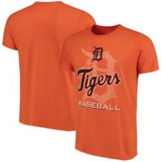 Detroit Tigers Majestic Threads Visionary Tri-Blend T-Shirt - Orange - $34.99