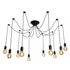 Люстра подвесная arte lamp a9184sp-10bk fuori 10xe27 40w 220v ip20