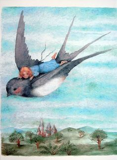 çizgili masallar: The Wild Swans and Thumbelina by Kaarina Kaila