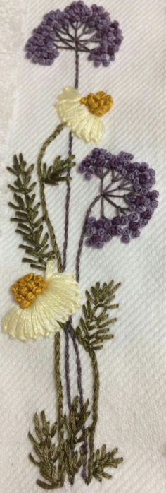 Wonderful Ribbon Embroidery Flowers by Hand Ideas. Enchanting Ribbon Embroidery Flowers by Hand Ideas. Brazilian Embroidery Stitches, Learn Embroidery, Silk Ribbon Embroidery, Crewel Embroidery, Floral Embroidery, Cross Stitch Embroidery, Modern Embroidery, Embroidery Designs, Hand Embroidery Patterns