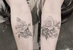 Roses flowers tattoos on arms with shade by _dr_woo_