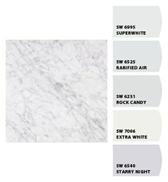 Paint colors from Chip It! by Sherwin-Williams/master bath Carrera marble