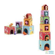 My Small World Toy Store-Djeco Toys Topanifarm Stacking Blocks Stacking Blocks, Stacking Toys, Lego, Toddler Toys, Kids Toys, Educational Toys For Kids, Toys Online, Reggio Emilia, Toys Shop