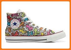 76ace2f9d1f86 Converse All Star Cutomized - personalisierte Schuhe (Handwerk Produkt)  leben stilizzato - size EU