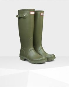 Hunter Original Boot Olive #HUNTER #WeHeartIt