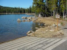 The boat ramp