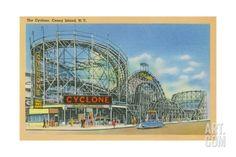 The Cyclone, Coney Island, C.1946 Giclee Print at Art.com