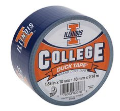 University of Illinois College Duck Tape® brand duct tape http://duckbrand.com/products/duck-tape/licensed/college-duck-tape/illinois-188-in-x-10-yd?utm_campaign=college-duck-tape-general&utm_medium=social&utm_source=pinterest.com&utm_content=college-duck-tape
