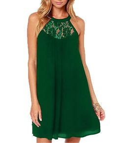 Aolakeke Women's Sleeveless halter Lace Patchwork Loose  The best clothing deals are fashion forward designs that are  in style and that you are comfortable in.  Therefore take a look at these best clothing deals under $10. There are many types of dresses to chose from  A line dress, Maxi dress, flowing dress and you will find all kinds of stylish  colors such as red, blue, purple, green, black and yellow. All things considered these are some of the  best women's dresses of 2017