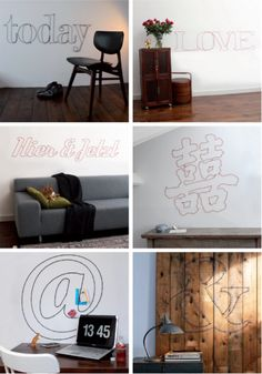 Love these word patterns!   Great DIY-inspiration or maybe I'll just order the pattern sheets @ www.momantai-design.com