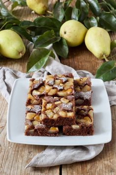 Baking Recipes, Cake Recipes, Go Veggie, Pear Cake, French Food, How To Make Cake, Nutella, Breakfast Recipes, Food And Drink