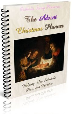 The ultimate planning book for Catholic moms! From Catholic Icing- The Advent Christmas Planner.
