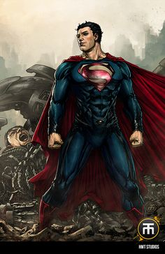 Superman by Harvey Tolibao, colours by Gab *