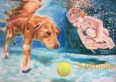 Sylvie-Blandin - Artiste Peintre : desslin pastel - Arielle et Ulysse