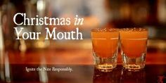 Christmas in Your Mouth Drink Recipe Christmas Shots, Christmas Cocktails, All You Need Is, Fun Drinks, Alcoholic Drinks, Beverages, Fireball Cocktails, Cocktail Shots, Vanilla Vodka
