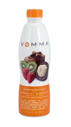90 plus nutrients make up this 2oz bottle! 12 full-spectrum vitamins, plant-sourced minerals along with a powerful blend of the exotic mangosteen superfruit, organic glyconutrient-rich aloe vera and organic decaffeinated green tea!    Find out more @:  www.nickhomebiz.vemma.com