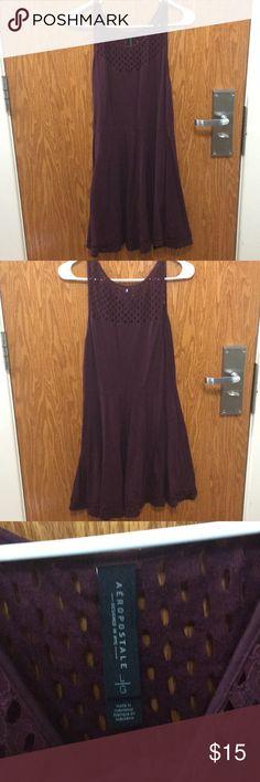 NWOT Aéropostale maroon dress NWOT   Never worn super cute Aeropostale Dresses Midi