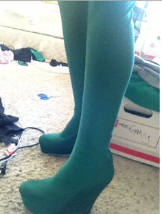 Boot Covers Tutorial. They're suuuuper easy, and only have a single back seam. You can make them out of...