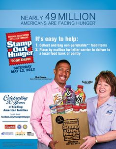 Stamp Out Hunger food drive on Saturday, May 12, 2012.